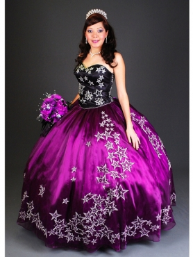 Discount Affordable ball gown sweetheart-neck floor-length Quinceanera Dress 3001