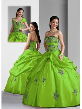 Discount Beautiful ball gown sweetheart-neck floor-length Quinceanera Dress 4028