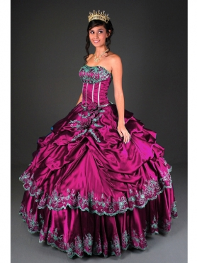 Discount Brand new ball gown strapless floor-length Quinceanera Dress 4029