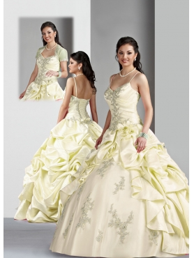 Discount Brand New ball gown straps floor length quinceanera dresses Style 80019