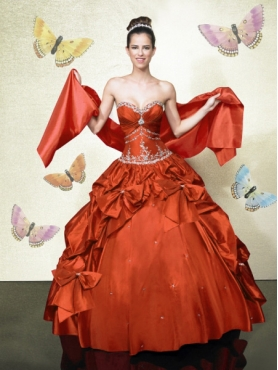 Discount Brand New ball gown sweetheart floor length quinceanera dresses mn HFQ488
