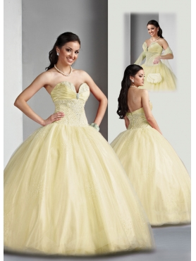 Discount Brand New ball gown sweetheart  floor length quinceanera dresses Style 80025