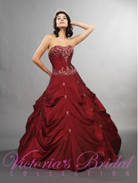 Discount Brand New ball gown sweetheart  floor length quinceanera dresses  STYLE 9072