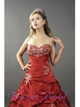 Discount Exclusive ball gown sweetheart  floor-length quinceanera dresses STYLE 3136