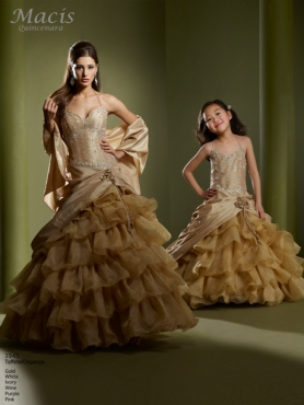 Discount Fascinating ball gown halter floor-length sleevelessl Macis Quinceanera Gown 3945