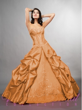 Discount Fascinating ball gown strapless  floor-length sleeveless formal prom dress Dulce Mia 901806
