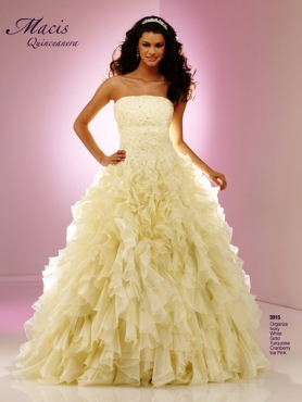 Discount Fascinating ball gown strapless floor-length sleevelessl Macis Quinceanera Gown 3915