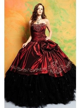 Discount Formal ball gown strapless floor-length quinceanera dresses 1609