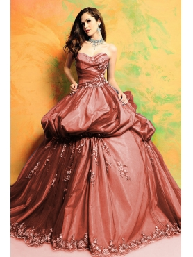 Discount Perfect ball gown sweetheart-neck floor-length quinceanera dresses STYLE 3142