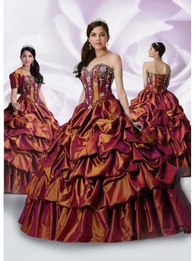 Discount Popular ball gown sweetheart  floor-length quinceanera dresses STYLE 3155