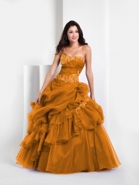 Discount Pretty ball gown strapless  floor-length 2011 Fifteen by Precious Formals Quinceanera Dress QW50018