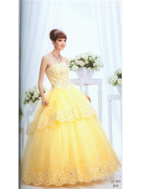 Discount Wonderful ball gown strapless floor-length quinceanera dresses 1642