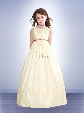 Discount Bill Levkoff Yellow Flower Girl Dresses Style 10301