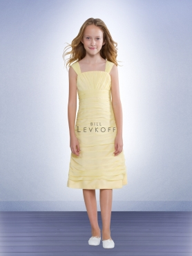 Discount Bill Levkoff Yellow Flower Girl Dresses Style 37802