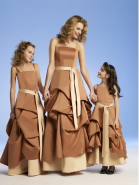 Discount Low price Brown A-Line Strap floor length Little Girl Pageant Dresses 12221