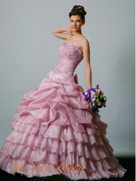 Discount 2012 Amazing Ball gown Strapless Floor-length Quinceanera Dresses Style 921841