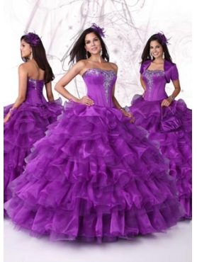 Discount 2012 Beautiful Ball gown Strapless Floor-length Quinceanera Dresses Style 80083