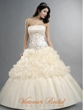 Discount 2012 Beautiful Ball gown Strapless Floor-length Quinceanera Dresses Style 911818
