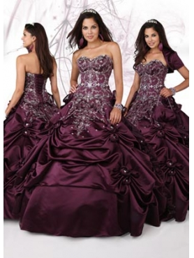 Discount 2012 Beautiful Ball gown Sweetheart Floor-length Quinceanera Dresses Style 80088
