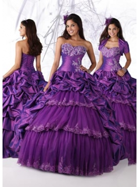 Discount 2012 Beautiful Ball gown Sweetheart Floor-length Quinceanera Dresses Style 80090