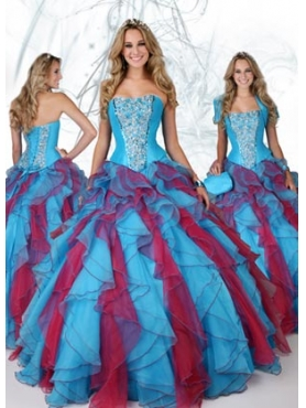 Discount 2012 Exclusive Ball gown Strapless Floor-length Quinceanera Dresses Style 80071