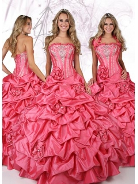 Discount 2012 Exclusive Ball gown Strapless Floor-length Quinceanera Dresses Style 80093