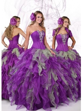 Discount 2012 Exquisite Ball gown Strapless Floor-length Quinceanera Dresses Style 80074