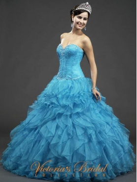 Discount 2012 Glamorous Ball gown Sweetheart Floor-length Quinceanera Dresses Style 921840