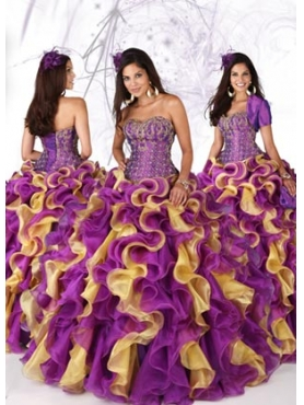 Discount 2012 Luxurious Ball gown Strapless Floor-length Quinceanera Dresses Style 80080