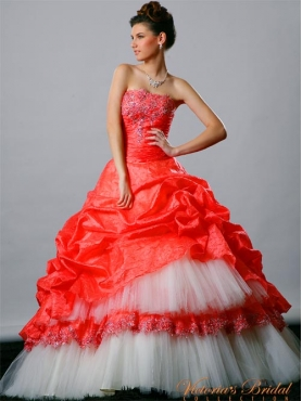 Discount 2012 Romantic Ball gown Strapless Floor-length Quinceanera Dresses Style 921842