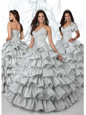 Discount 2012 Romantic Ball gown Sweetheart Floor-length Quinceanera Dresses Style 80079