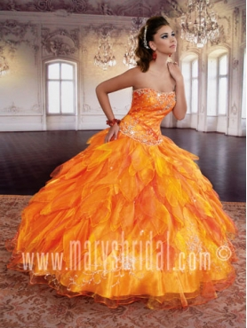 Discount 2012 Beautiful Ball gown Strapless Floor-length Quinceanera Dresses Style S12-4Q768
