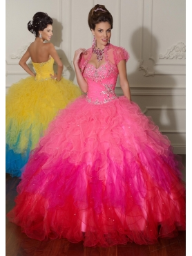 Discount 2012 Beautiful ball gown sweetheart-neck floor-length quinceanera dresses 88013