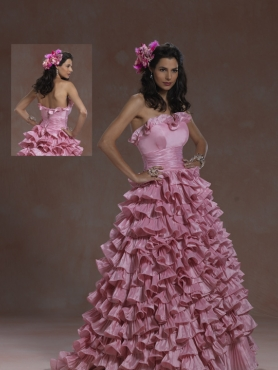 Discount 2012 Exquisite ball gown strapless floor-length quinceanera dresses 5955