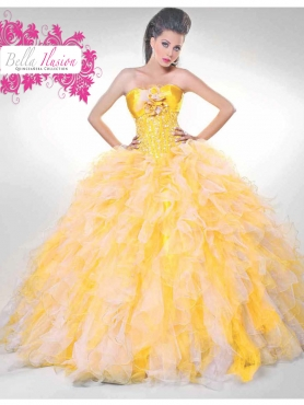 Discount 2012 Exquisite ball gown strapless floor-length quinceanera dresses 7042