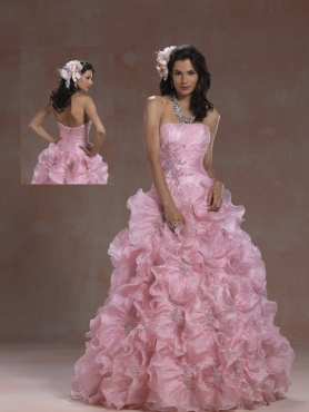 Discount 2012 Gorgeous ball gown strapless floor-length quinceanera dresses 5958