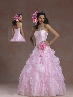 Discount 2012 Lovely ball gown strapless floor-length quinceanera dresses 5951