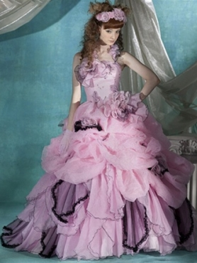 Discount 2012 Luxurious Ball gown Strapless Floor-length Quinceanera Dresses Style CP810