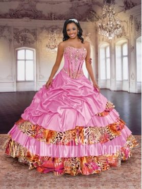 Discount 2012 Luxurious Ball gown Strapless Floor-length Quinceanera Dresses Style S12-4Q765