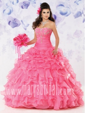 Discount 2012 Pretty Ball gown Strapless Floor-length Quinceanera Dresses Style S12-4109