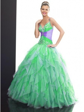 Discount 2012 Beautiful ball gown strap floor-length quinceanera dresses Q509