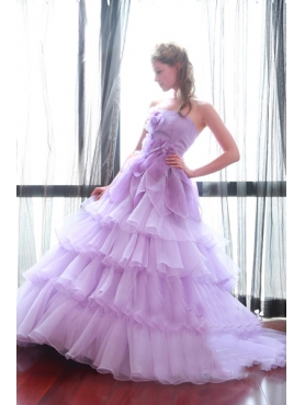 Discount 2012 Beautiful Ball gown Strapless Chapel train Quinceanera Dresses Style NQD078