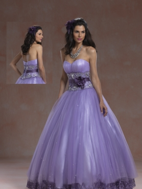 Discount 2012 Beautiful ball gown sweetheart-neck floor-length quinceanera dresses 5956