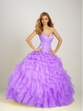 Discount 2012 Beautiful ball gown sweetheart-neck floor-length quinceanera dresses Q321