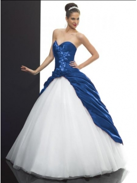 Discount 2012 Cute ball gown sweetheart-neck floor-length quinceanera dresses Q503