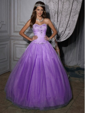 Discount 2012 Elegant ball gown sweetheart-neck floor-length quinceanera dresses 56204