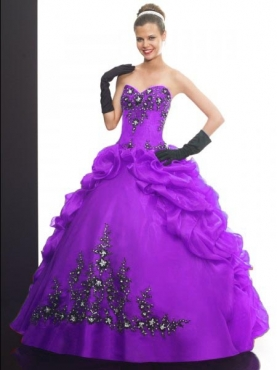 Discount 2012 Exquisite ball gown sweetheart-neck floor-length quinceanera dresses Q505
