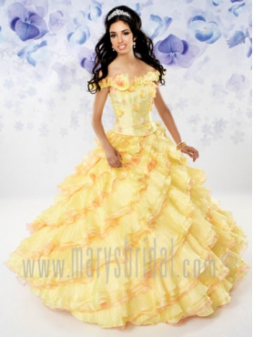 Discount 2012 Gorgeous Ball gown Off the shoulder Floor-length Quinceanera Dresses Style S12-4106
