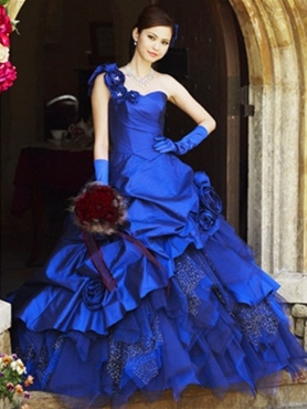 Discount 2012 Gorgeous Ball gown One Shoulder Floor-length Quinceanera Dresses Style CP206