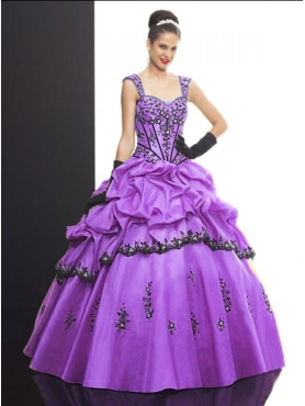 Discount 2012 Lovely ball gown sweetheart-neck cap sleeves floor-length quinceanera dresses Q512